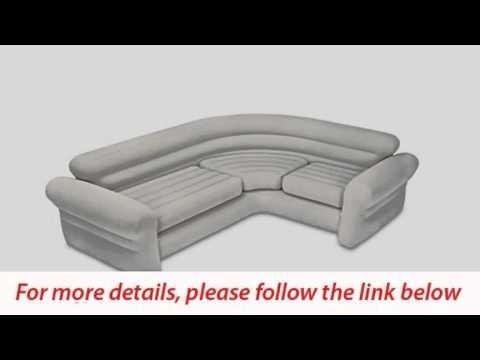 Intex Inflatable Corner Sofa 101 X 80 X 30 – Youtube With Intex Inflatable Sofas (View 13 of 20)