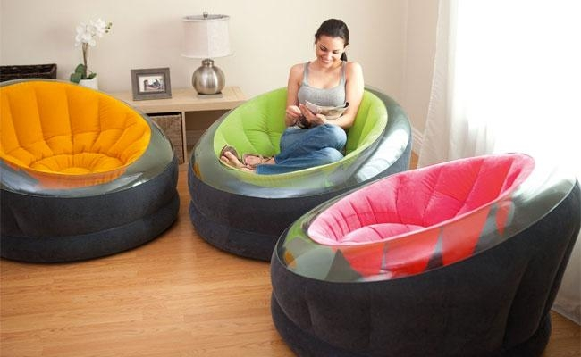 Intex Inflatable Empire Chairs Vs Bean Bags Pertaining To Intex Air Couches (Image 9 of 20)