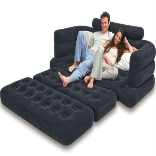 Intex Inflatable Pull Out Air Bed And Sofa With Intex Air Sofa Beds (Image 11 of 20)