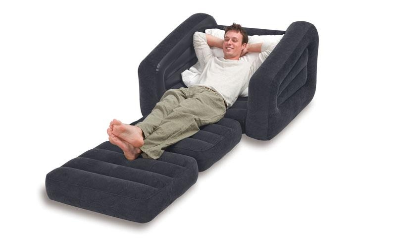 Intex Inflatable Pull Out Chair And Twin Air Mattress Regarding Intex Air Sofa Beds (View 14 of 20)