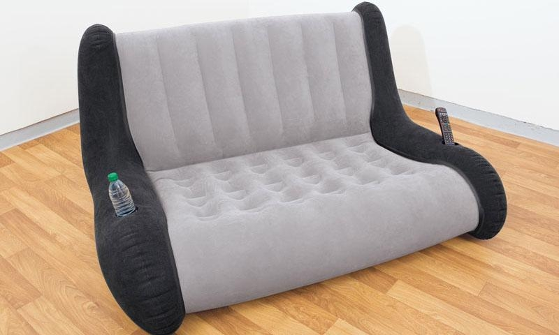 Intex Inflatable Sofa Flocking Lounge – Blow Up Sofa 68560E Regarding Intex Air Couches (Image 12 of 20)