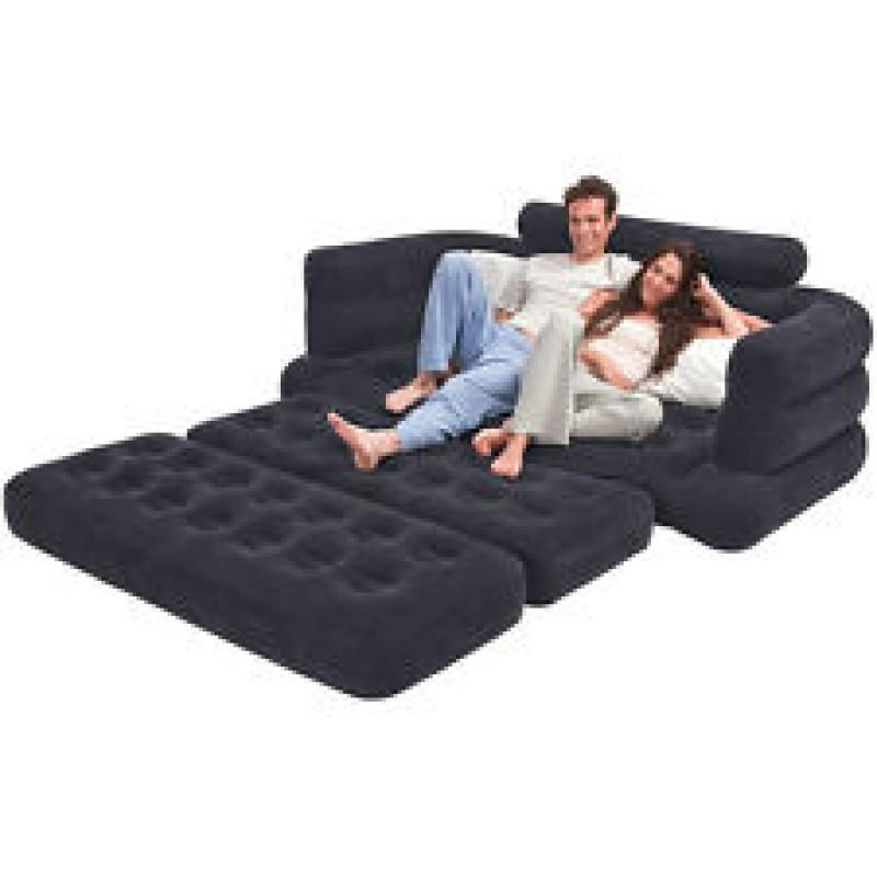 Intex Original Velvet Inflatable Sofa Extra Large Pull Out Sofa Inside Intex Air Sofa Beds (Image 14 of 20)