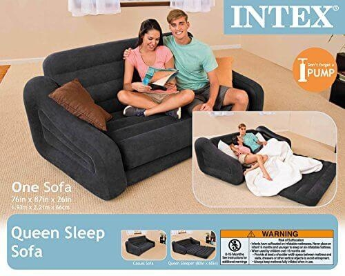 Intex Pull Out Sofa Inflatable Bed, Queen – College Magazine Inside Intex Inflatable Pull Out Sofas (Image 17 of 20)