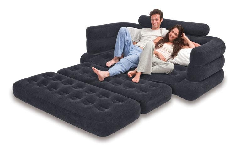Intex Pull Out Sofa Sleeper Black In Intex Pull Out Chairs (View 18 of 20)