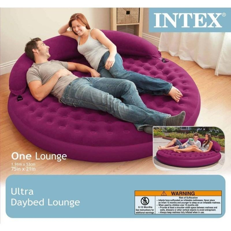 "Intex Sofa Bed Inflatable Lounge, 75"" X 21"" With For Intex Air Sofa Beds (View 11 of 20)"