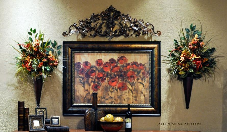 Iron Wall Decor Mediterranean Wrought Iron Wall Decor Toppers In Tuscany Wall Art (Image 7 of 20)