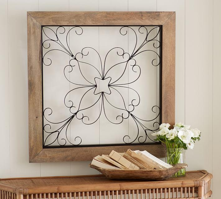 Iron Window Gate Wall Art | Pottery Barn Intended For Metal Gate Wall Art (Image 18 of 20)