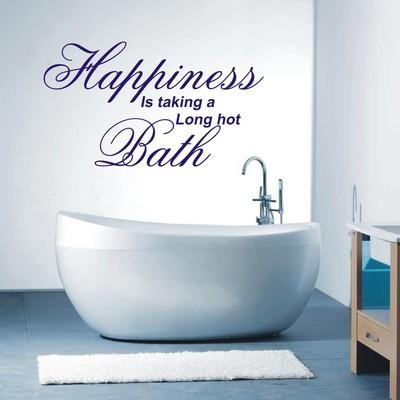 Is Taking A Long Hot Bath Wall Art Sticker Quote – 4 Sizes – Wa14 Regarding Bath Wall Art (Image 15 of 20)