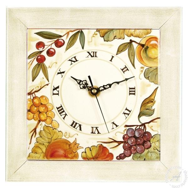 Italian Ceramics Wall Clock Fruit 2 | Deruta Italian Potteryl With Italian Ceramic Wall Clock Decors (Image 13 of 22)