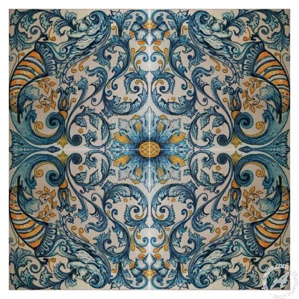 Italian Ceramics Wall Tile Mural, Modular Floor Tile Panel Throughout Italian Ceramic Wall Art (View 7 of 20)