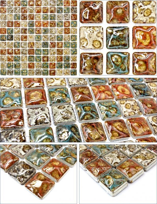 Italian Porcelain Tile Backsplash Bathroom Walls Glazed Ceramic Gm12 With Italian Ceramic Wall Art (View 10 of 20)