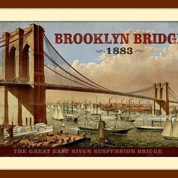 Italian Wall Art From Venice, Italy, From Easternvibes On Etsy Within Brooklyn Bridge Metal Wall Art (Image 8 of 20)