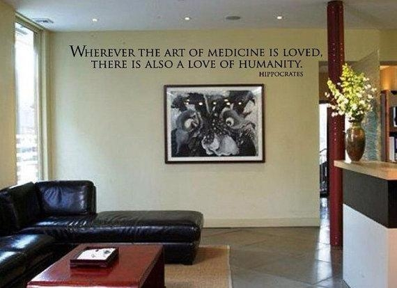 Items Similar To Wherever The Art Of Medicine Is Loved There Is Pertaining To Medical Wall Art (Image 14 of 20)