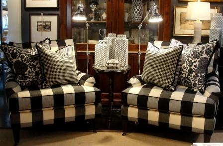 It's A Black And White World – Nell Hills Intended For Buffalo Check Sofas (View 8 of 20)
