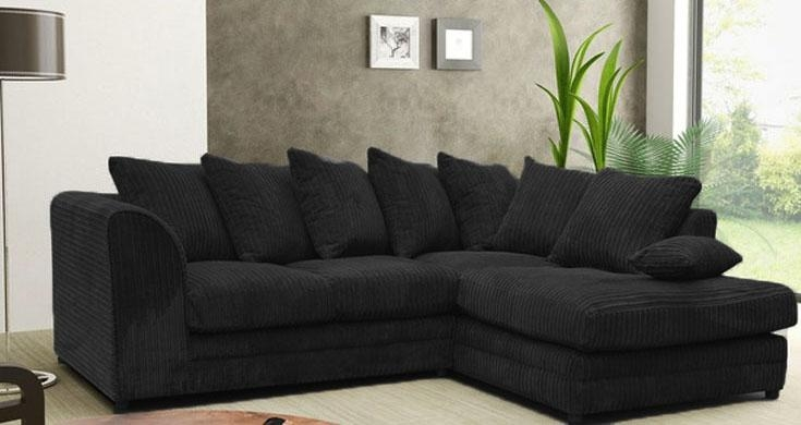 Jackson Fabric Corner Sofa Suite Collection : Black Regarding Black Corner Sofas (View 7 of 20)