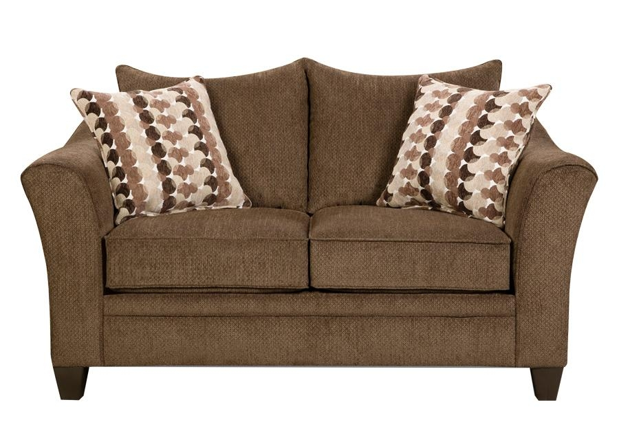 Jada Brown Chenille Sleeper Sofa & Loveseat – Badcock Home Inside Chenille Sleeper Sofas (Image 13 of 20)