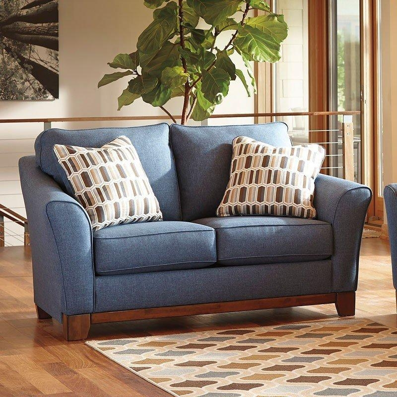 Janley Denim Loveseat – Loveseats – Living Room Furniture – Living Inside Denim Loveseats (Photo 7 of 20)