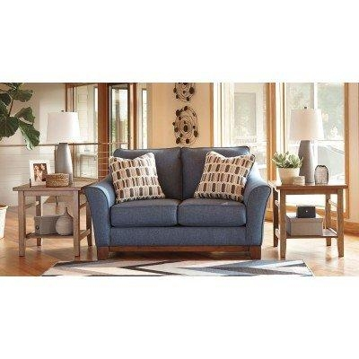 Janley Denim Loveseat – Loveseats – Living Room Furniture – Living Intended For Denim Loveseats (Photo 14 of 20)