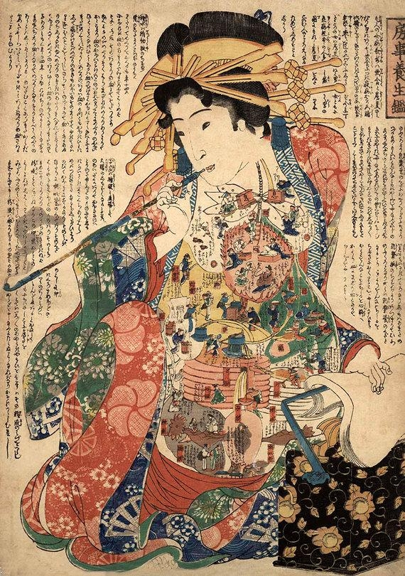 Japanese Art Japanese Geishas Art Prints Geisha With A Within Geisha Canvas Wall Art (Image 7 of 20)