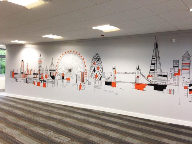 Joanna Perry – Top Mural Artist, Hand Painting Murals Across The Intended For London Scene Wall Art (Photo 19 of 20)