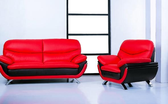 Jonus Red/black Sofa Jonus Beverly Hills Furniture Leather Sofas Inside Black And Red Sofas (Image 11 of 20)