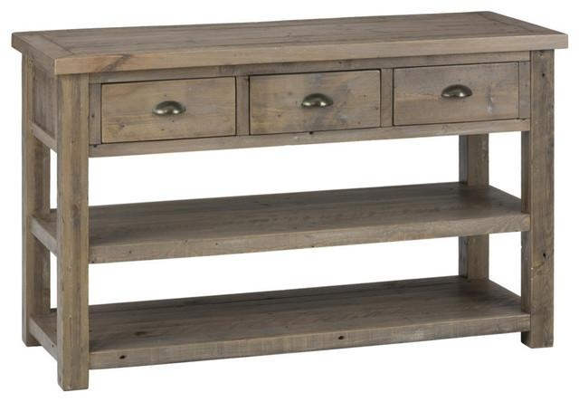 Jordan Sofa Table, Reclaimed Pine – Traditional – Console Tables Within Sofa Tables With Storages (View 13 of 20)