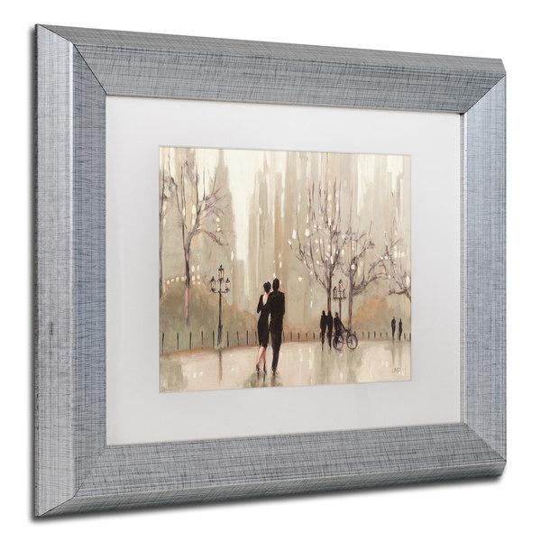 Julia Purinton 'an Evening Out Neutral' White Matte, Silver Framed For Neutral Wall Art (Image 10 of 20)