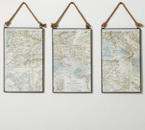 Just Crafty Enough – Diy Inspiration: Map Wall Art For Map Wall Art (Photo 6 of 20)