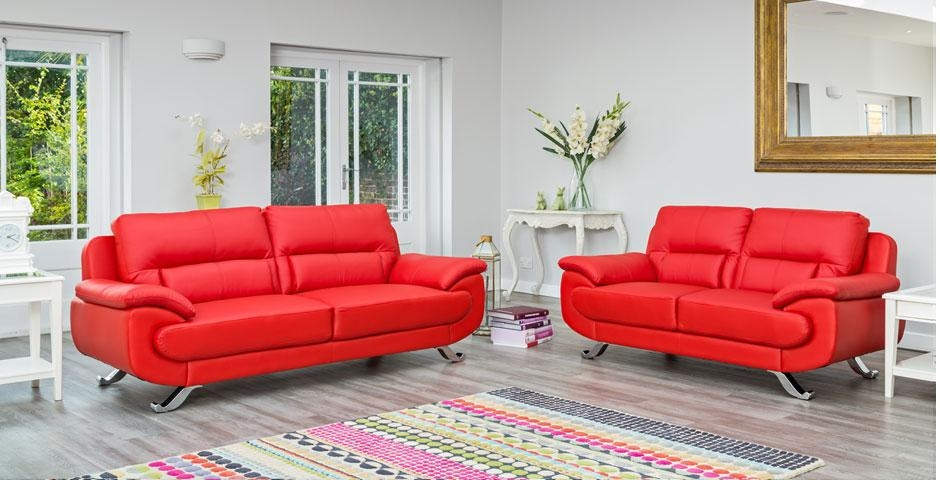 Kadina | Leather Sofas | Leather Sofas | Next Day Sofas Pertaining To Sofas With Chrome Legs (Image 9 of 20)