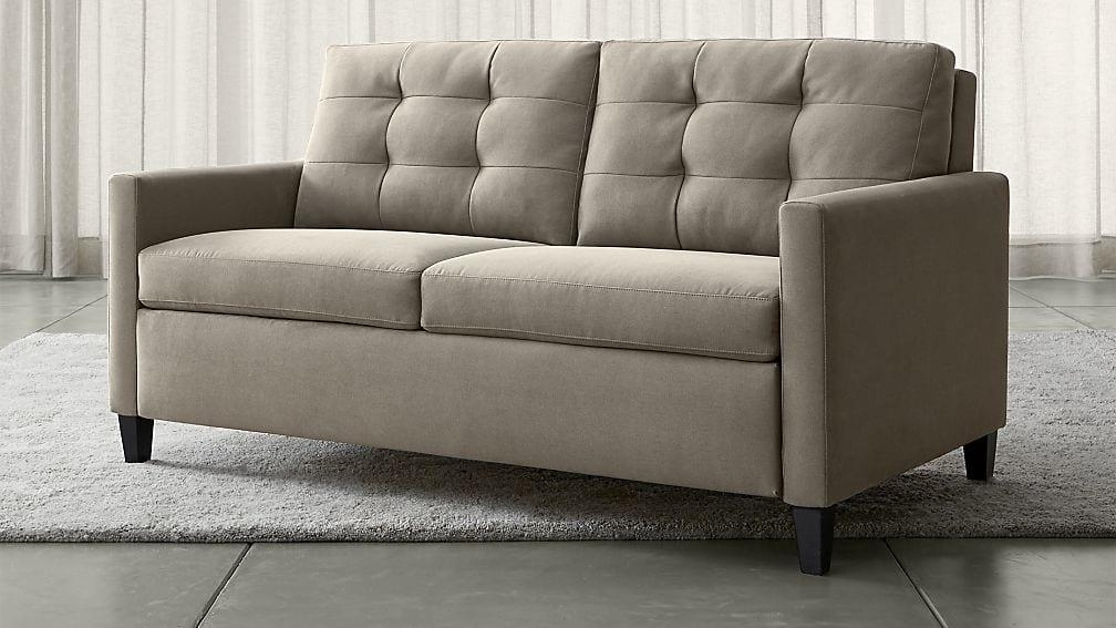 Karnes Grey Queen Sleeper Sofa | Crate And Barrel Pertaining To Crate And Barrel Sofa Sleepers (Image 12 of 20)