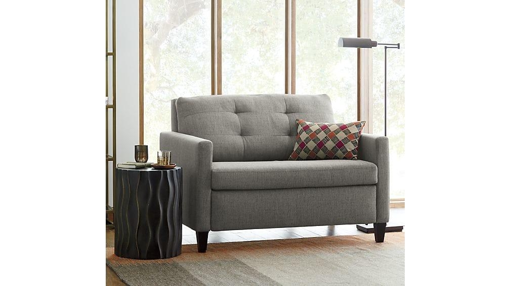 Karnes Twin Sleeper Sofa Chair | Crate And Barrel With Regard To Crate And Barrel Sleeper Sofas (Image 9 of 20)