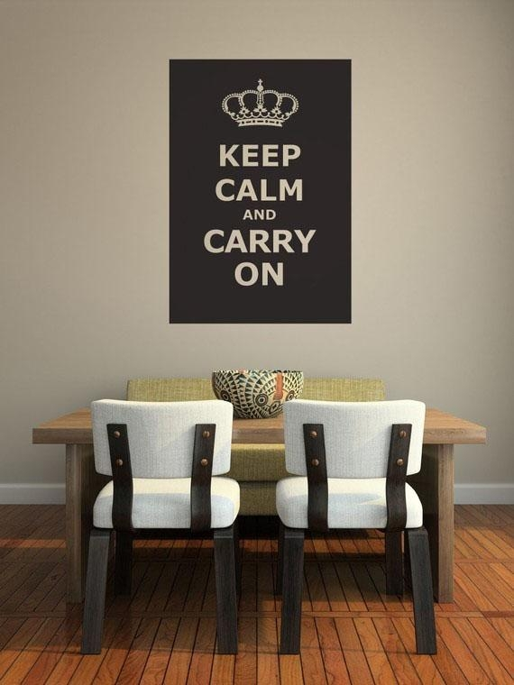 Keep Calm And Carry On Decor For Your Home | Idesignarch Inside Keep Calm And Carry On Wall Art (Image 9 of 20)