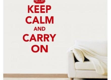 Keep Calm And Carry On Wall Art Vinyl Sticker Room Decal Quote With Keep Calm And Carry On Wall Art (Image 12 of 20)