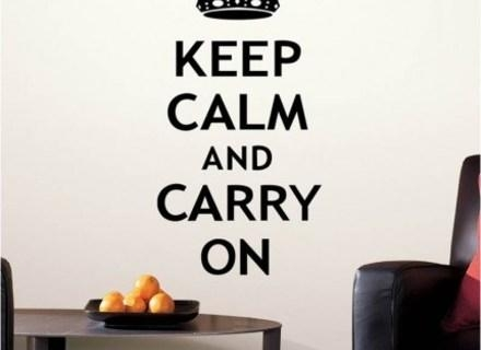 Keep Calm And Carry On Wall Art Vinyl Sticker Room Decal Quote With Regard To Keep Calm And Carry On Wall Art (View 20 of 20)