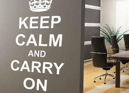 Keep Calm And Carry On Wall Art Vinyl Sticker Room Decal Quote Within Keep Calm And Carry On Wall Art (View 5 of 20)