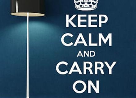 Keep Calm And Carry On Wall Decals, Keep Calm And Carry On Wall Within Keep Calm And Carry On Wall Art (Image 16 of 20)