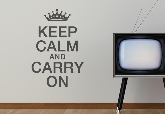 Keep Calm And Carry On Wall – Wall Art Intended For Keep Calm And Carry On Wall Art (Image 11 of 20)