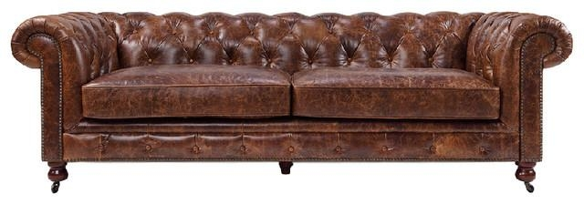 Kensington Chesterfield Tufted Sofarose & Moore – Traditional With Regard To Brown Tufted Sofas (View 2 of 20)