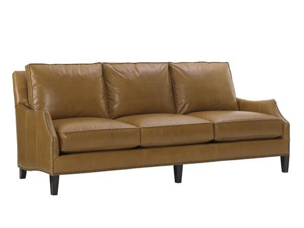 Kensington Place Ashton Leather Sofa | Lexington Home Brands Inside Ashton Sofas (Image 16 of 20)