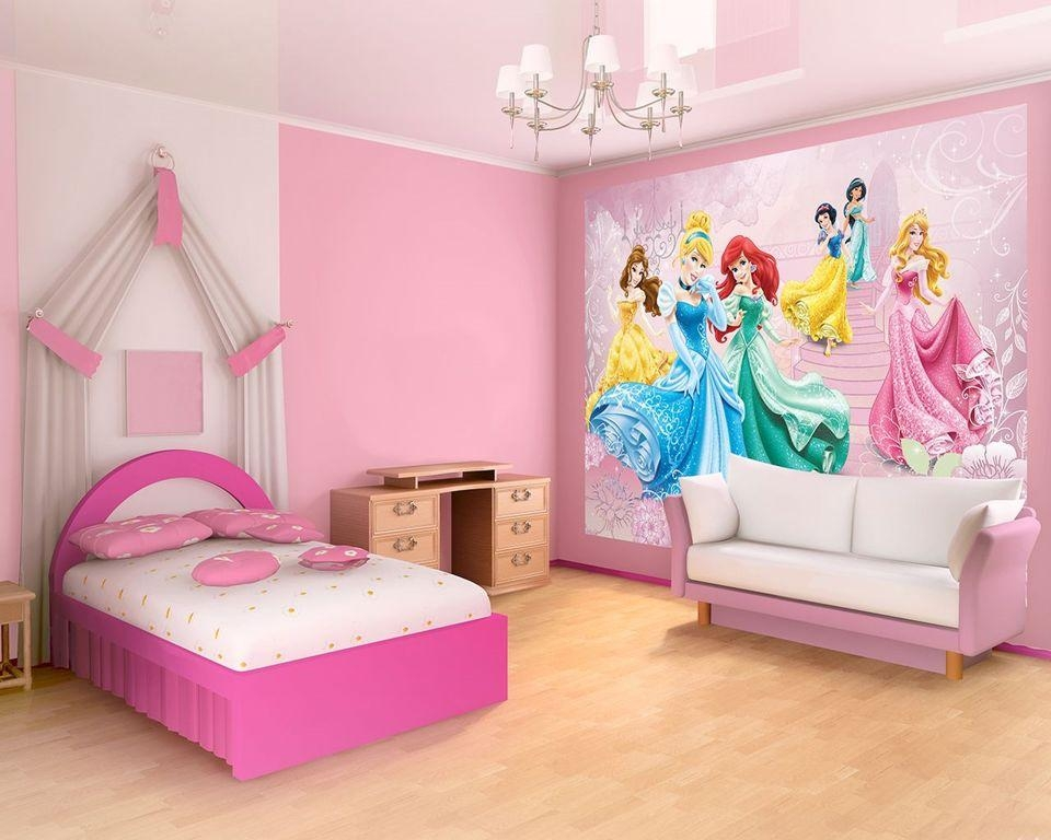 Kids Bedroom : Lovely Princess Bedroom Theme Design With Inside Disney Princess Sofas (View 15 of 20)