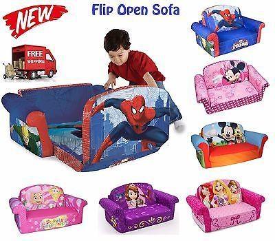 Kids Flip Open Sofa Disney Marvel Lounger Bedding Children Couch Regarding Flip Open Kids Sofas (Image 11 of 20)