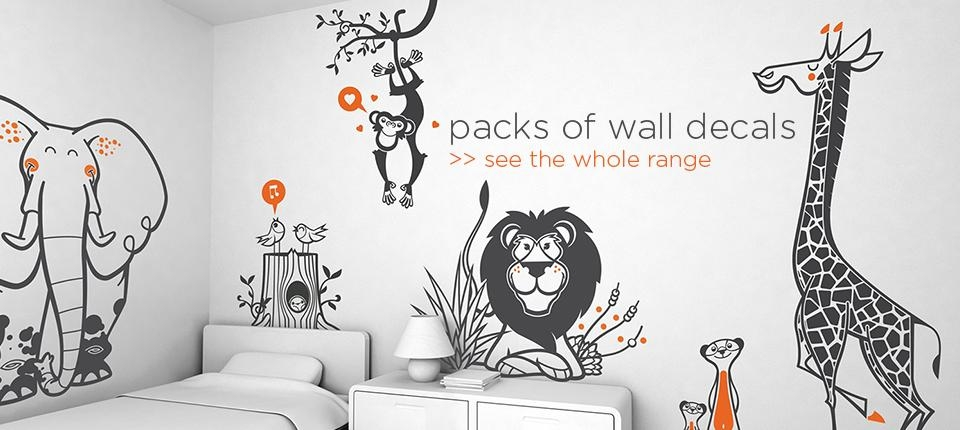 Kids Wall Stickers – Nursery Wall Decals, Childrens Room Decors With Wall Art Stickers For Childrens Rooms (Image 12 of 20)