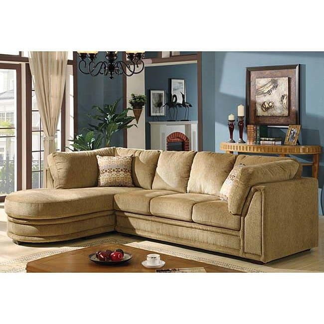 Kimberly Chenille Sectional Sofa – Free Shipping Today – Overstock With Regard To Chenille Sectional Sofas (Image 13 of 20)