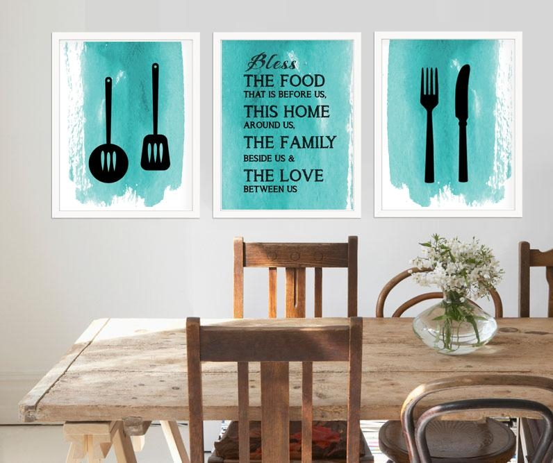 Kitchen Room Wall Art Signs Within Kitchen Wall Art (View 18 of 20)