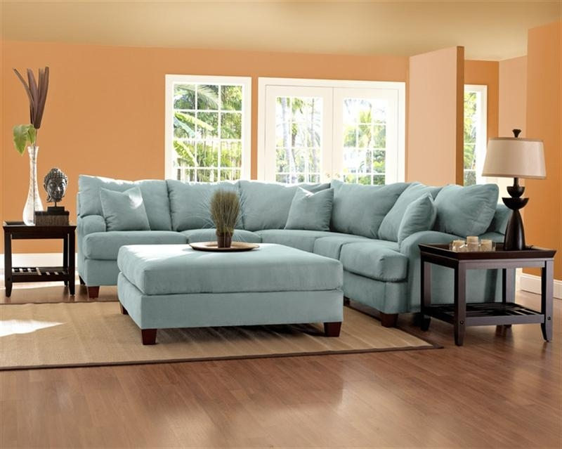 Klaussner Furniture Canyon Sectional Sofa Canyonsect Regarding Sky Blue Sofas (View 10 of 20)