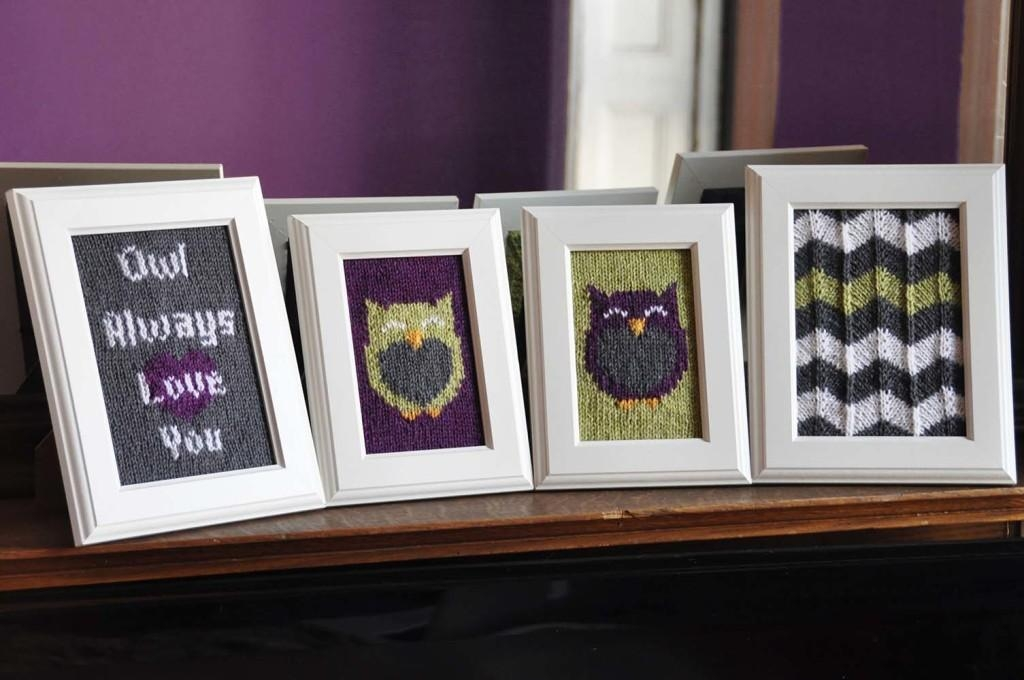 Knitted Wall Art – Knitting Is Awesome With Regard To Owl Framed Wall Art (Image 10 of 20)