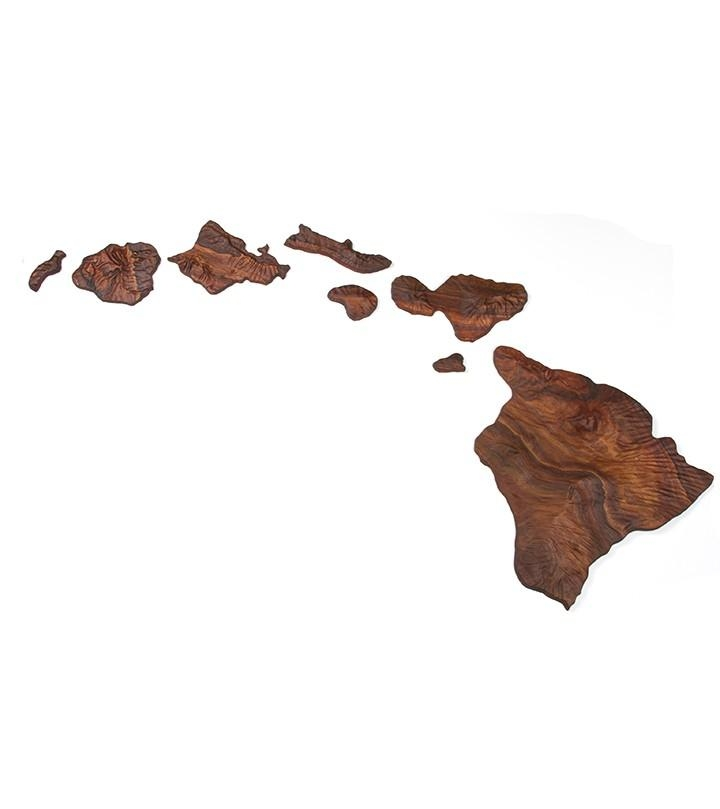 Koa Hawaiian Island Chain 6' With Hawaiian Islands Wall Art (Image 11 of 20)