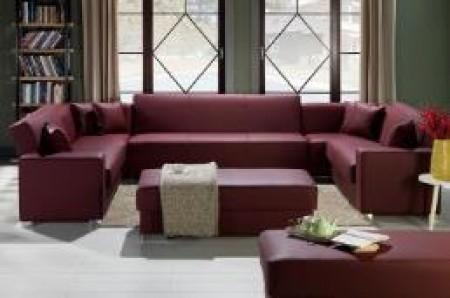 Kobe Modular Sectional Sofa In Santa Glory Burgundyistikbal Inside Burgundy Sectional Sofas (Image 13 of 20)