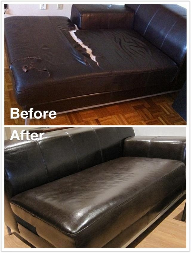 Kramfors Leather Vs Kramfors Fabric Slipcover | Cw Intended For Individual Couch Seat Cushion Covers (Image 7 of 20)