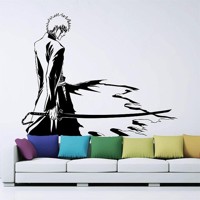 Kurosaki Ichigo Vinyl Wall Art Decal Inside Tattoo Wall Art (View 14 of 20)